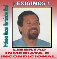Organizaciones exigen liberar a Oscar H. Neri