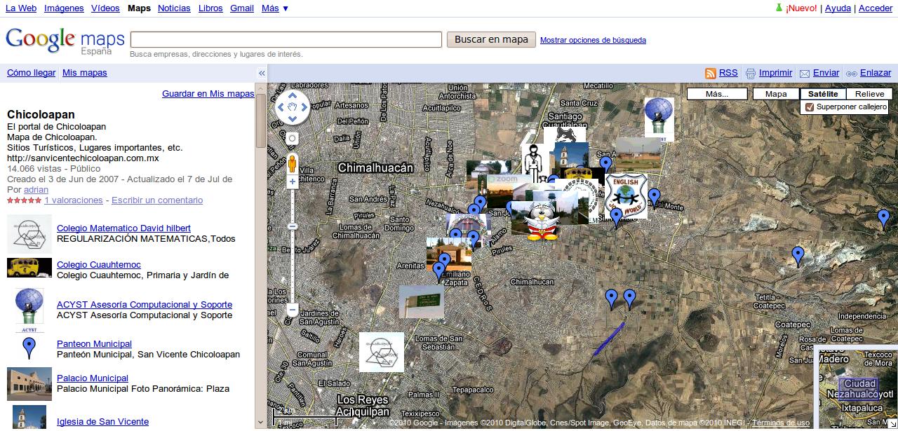 Mapa de chicoloapan portal de chicoloapan por sus for Ministerio del interior ubicacion mapa
